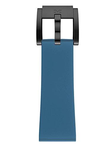 TW Steel Marc Coblen Armband Uhrenband Uhrenarmband Silikon 22 MM Blau SB_BL_B