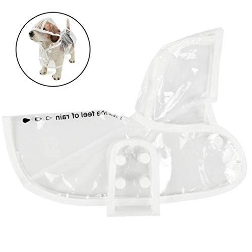 Angoter Haustier Hund Raincoat Transparent Regen Mantel Wasserdicht Haustiere Raincoats Kleine Hunde Kleidung (Größe S) -