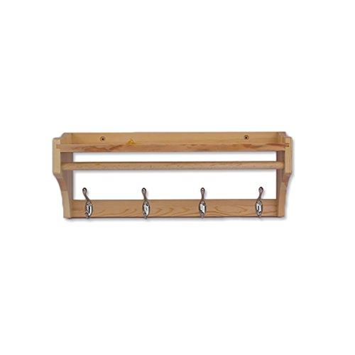 LOFTfan kleiderständer Garderobe Wandaufhänger, Bambus Wand Vitrinen, Küchenschränke Badezimmerwand Kleiderbügel Garderobe hutablage (Größe : A51.5*15*20cm)