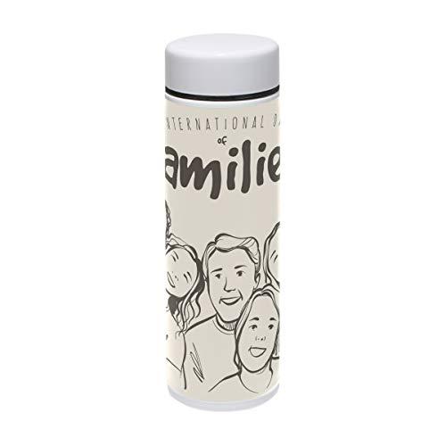 liparts Vakuum-isolierte Edelstahl-Reise-Tasse, Sport-Wasserflasche, 19,1 ml, heiß für 12 Stunden ()
