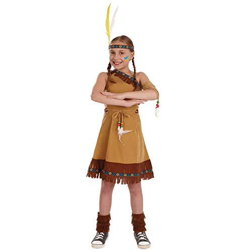West Girl Indian Wild Kostüm - Fun Shack FNK2968L Kostüm, Girls, Native American Dress, L