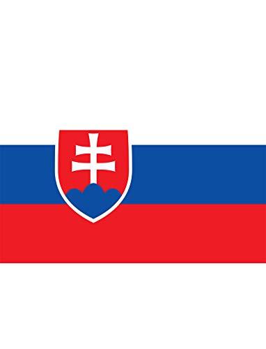 "TrendClub100® Fahne Flagge \""Slowakei Slovakia SK\"" - 150x90 cm / 90x150cm"