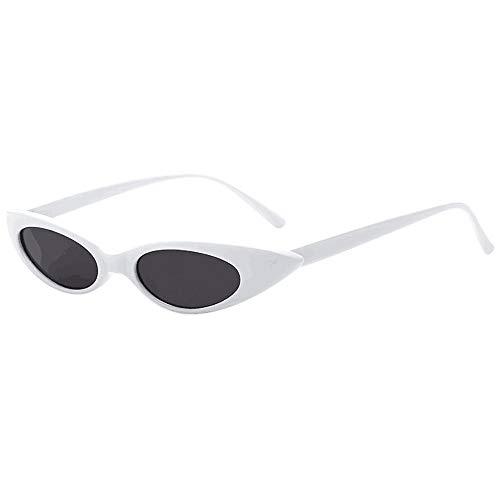 Lomsarsh Mode Frauen Vintage Oval Rahmen Cat Eye Sonnenbrille Brille Einfarbig Objektiv Strand Sonnenbrille Integrierte UV - Go Out Travel Obligatorisch - Multicolor