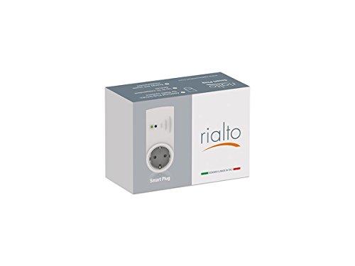 Rialto Smart Plug - Presa intelligente aggiuntiva, comandabile e programmabile da app per controllo e gestione dispositivi elettrici ed elettrodomestici, Bianco