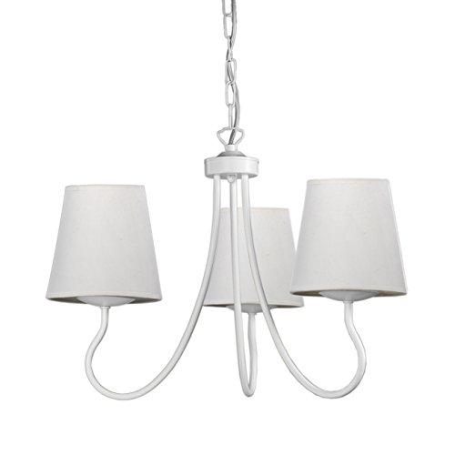 Onli margot lampadario, e14, bianco, 45 x h 100 cm