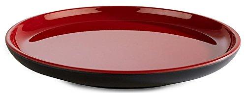 APS Teller -Asia Plus- aus Melamin Ø 16 cm, Höhe: 2 cm, innen: rot, glänzend, außen: schwarz, matt