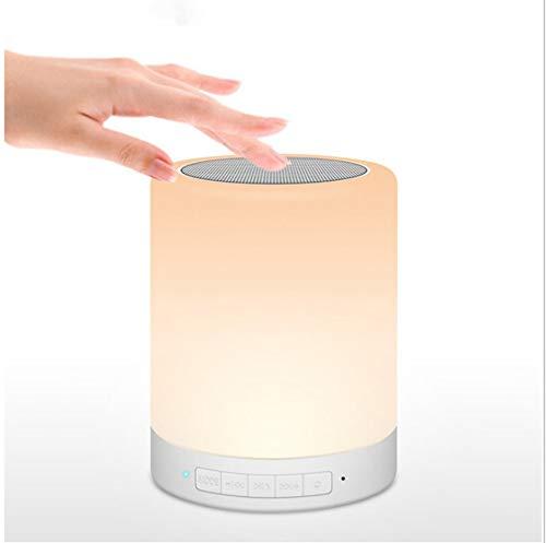YHYA Bluetooth-Lautsprecherlampe, Bluetooth-Nachtlicht-Funklautsprecher mit farbwechselndem LED-Stimmungslicht, TF-Karten-AUX-In-Freisprecheinrichtung zum Schlafen, Lesen, Camping