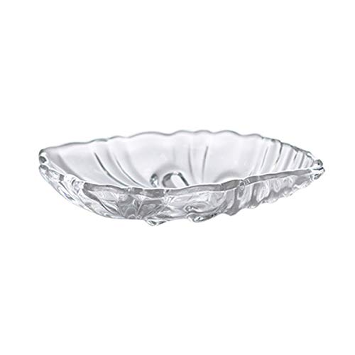 AGECC Crystal Glass Candy Bowl Fruit Plate Dried Fruit Plate Snack Dish Dessert Plate Dried Fruit Dish Dessert Plate. Glass Candy Dish Bowl