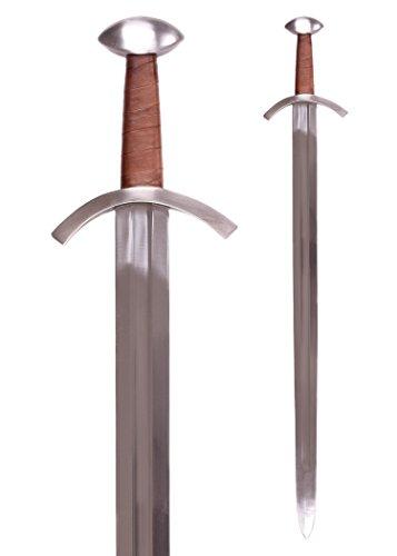 Preisvergleich Produktbild Battle-Merchant Schwert - Das Turiner Mauritius Schwert,  13. Jh,  inkl. Lederscheide Echt Mittelalter Stahl
