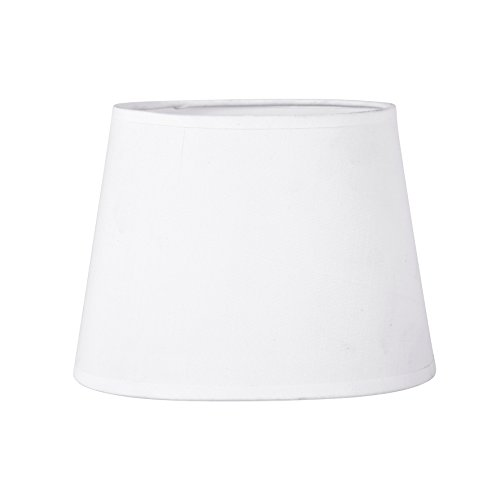 Sema 97117 Abat-Jour Ovale Base 20cm Blanc Texture