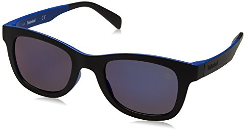 Timberland sonnenbrille tb9080 5091d, occhiali da sole uomo, nero (schwarz), 50