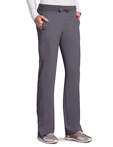 Barco One Women's 5205 Low Rise Knit Waist Cargo Track Scrub Pant- Granite- 2X-Large (Barco Scrubs)
