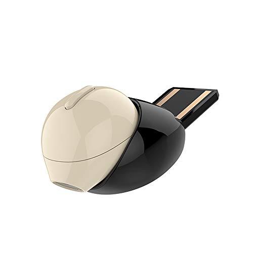 Bluetooth Headset Auto Lade USB Tragbare Lade Ohrhörer Mini Single Ear Wireless Headset,Beige Single-ear-headset