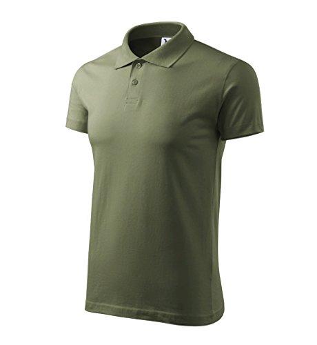 Dress-O-Mat Herren Poloshirt Shirt Polohemd Khaki Grün