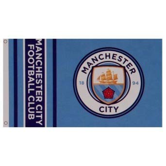 f1d79b89b6a8bf Manchester City Football Club Official Striped Large Flag Big Crest Game  Fan Banner