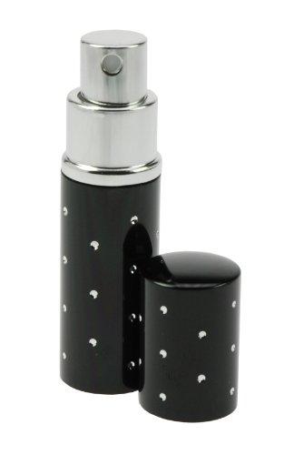 Fantasia 46164 Vaporisateur de poche Noir/pois argentés 9 cm 10 ml