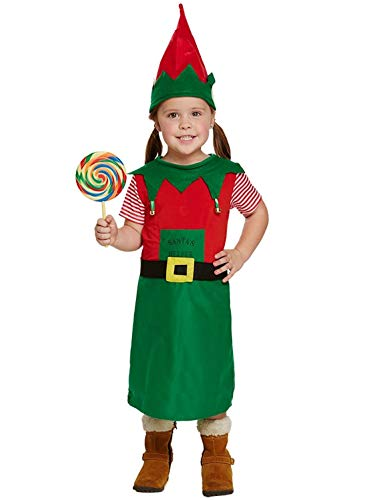 KOSTÜM KLEINKINDER SANTAS KLEINER HELFER MÄDCHEN 3 - Santas Kleiner Helfer Kostüm