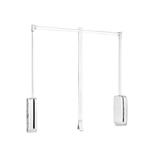 Este colgador abatible para armario permite tener acceso a las zonas más altas del armario sin esfuerzo. La barra es regulable en anchura para ser adaptada al hueco útil del armario (entre 600 y 830mm), además de tener un movimiento suave con retorno...
