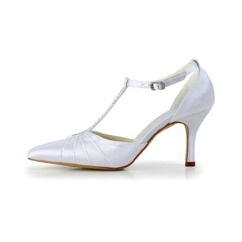 Jia Jia Wedding A3120 chaussures de mariée mariage Escarpins pour femme Blanc