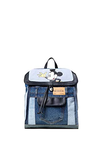 Desigual Zaino donna Bols Denim Mickey Cambridge 18WAXFBT unica denim