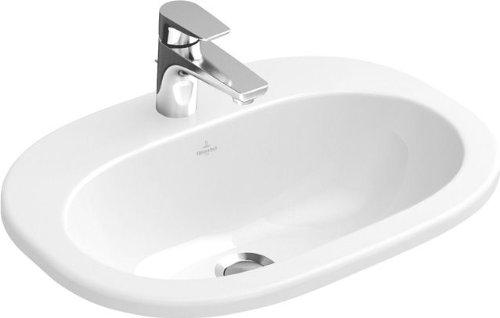 Villeroy & Boch Einbauwaschtisch O.novo 416156 560x405mm mittl Hl. durchgest m. Ül. weiß, 41615601
