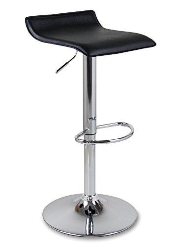 WOLTU BH11sz-a 2 x Design Barhocker Barstuhl Bar Hocker mit Griff Barstühle Kunstleder stufenlose Höhenverstellung verchromter Stahl Antirutschgummi Schwarz -
