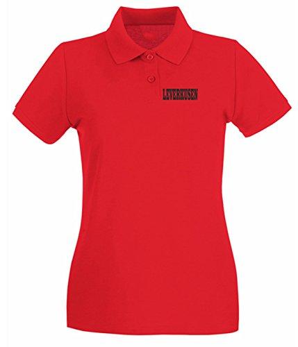 T-Shirtshock - Polo pour femme WC0804 LEVERKUSEN GERMANY CITY Rouge
