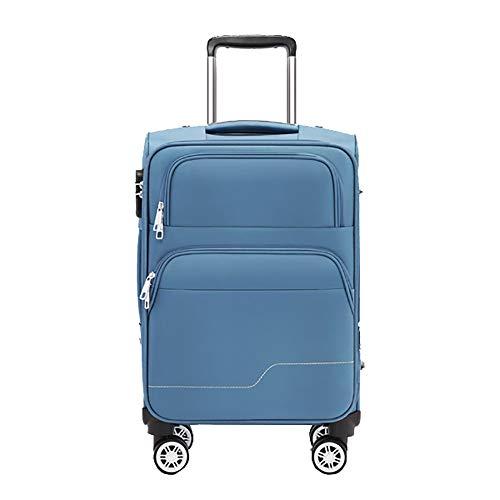 SHAN Trolley Valise Roue Universelle Valise Homme Mot De Passe BoîTe Femelle Embarquement BoîTe en Cuir Trolley Affaire Bleu 57 * 25 * 35cm