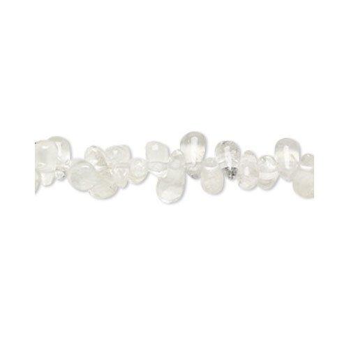 110+ Chiaro Cristallo DiRocca 2x5-4x9mm Tagliati A Mano Briolette Liscio Perline - (YF0915) - Charming Beads