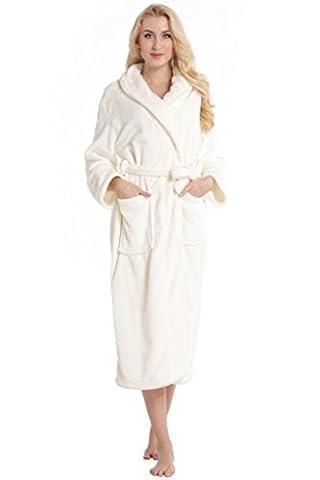 Aibrou pyjama femme polaire Robe peignoir pas cher personnalisé robe chambre homme longue Hiver blanc