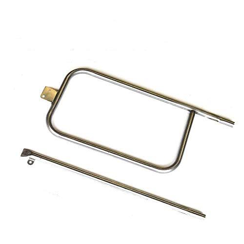 Bar.b.q.s B65032 (1pcs P-Typ Brenner mit 1pcs Gerades Rohr) Ersatzteile Gas Grill Brenner für 404341, 57060001, 586002, Q-3200, Q300, Q320 Gas Modelle