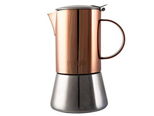 , La Cafetière Induction-Safe 4-Cup Copper-Effect Stovetop Espresso Maker, 200 ml (7 fl oz), Best Coffee Maker, Best Coffee Maker