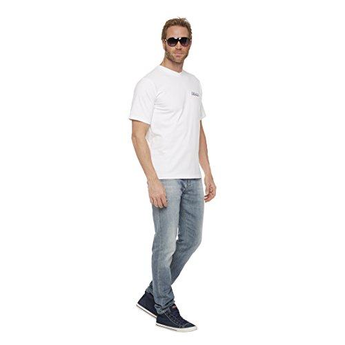 NEBULUS 5er PACK T-SHIRTS FREEMONT, V-Ausschnitt, Baumwolle, Shirt, T-Shirt (T101) Herren - weiß
