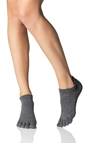 Toe Sox Ytoewtlrchars Yoga E Pilates Unisex - Adulto, Charcoal Grey, Small