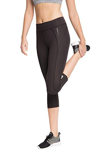 ESPRIT Sports Damen Sporthose Active/Training E-Dry Funktions Capri Tight Fit, Grau (Anthracite 3 012), 34 (Herstellergröße: XS) (Tight Fit Capri)