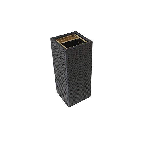 SLIANG Mülleimer, Bambus und Rattan Kreative Mülleimer nach Hause ohne Deckel vertikale Lagerplatz schwarz Hotel mit Aschenbecher Eimer Box (60x25x25cm)
