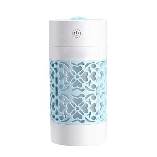 SUUUK 2019 Diffusore di Oli Essenziali, umidificatore ad ultrasuoni 250ML Aroma Diffusore di Olio Essenziale per Auto Domestica Fogger USB Nebulizzatore con Lampada da Notte a LED,Blu