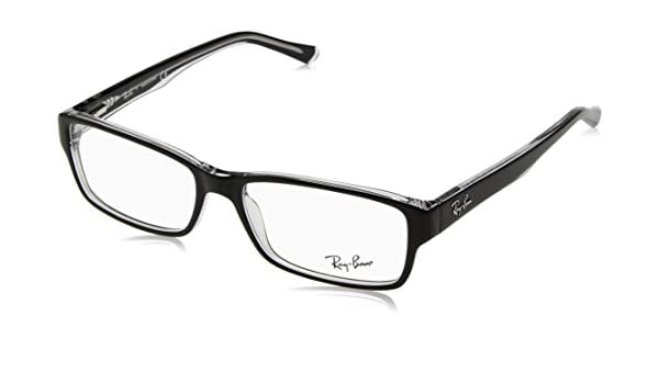 0aa9b4b2a4 Ray-Ban Wayfarer RB 5169 Rb 5169 2034 54mm Black Eyeglasses RX Ready Frame   Amazon.co.uk  Clothing