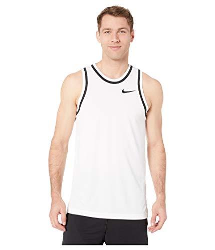Nike Herren M NK DRY CLASSIC JERSEY Tank Top, Weiß (White/Black), S