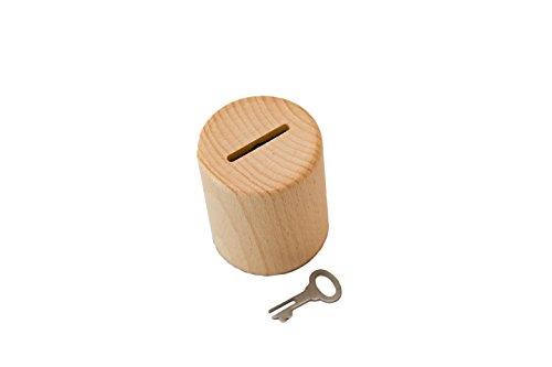 Salvadanaio in legno originale con serratura e lucchetto a chiave