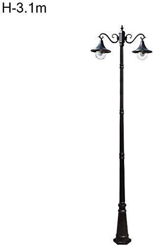 Unternehmen Außenhof Lampe Außen Garten Terrasse Tischbeleuchtung IP55 wasserdichte Pfosten Säule Laterne Regenschutz E27 Außenwandstehleuchten yppss (Color : H3.1m)