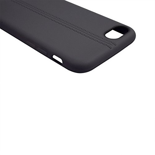 GHC Cases & Covers, Für iPhone 7 Central Double Line Glatte Oberfläche Soft TPU Schutzhülle ( Color : Black ) Black