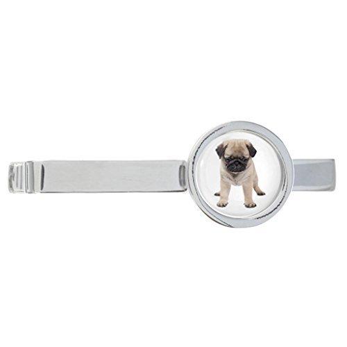 Mops Welpe Hund Bild Rhodiniert Clip-krawatte in (Bilder Mops Kostümen In)