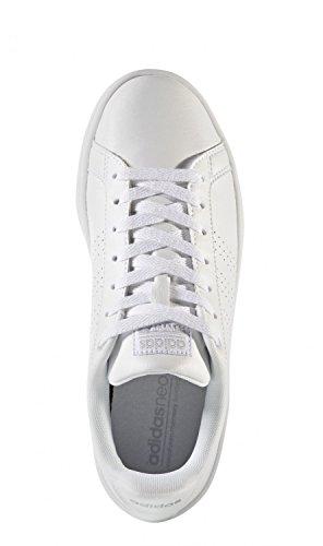 adidas Cloudfoam Advantage, Sneakers Basses Femme Blanc (Ftwbla / Ftwbla / Plamat)