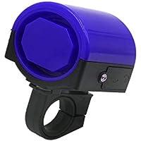 sourcing map 21mm Manillar Fuerte Timbre Bocina Electrónica de Bicicleta Plástico Negro Azul