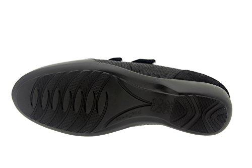 Chaussure femme confort en cuir Piesanto 7676 casual comfortables amples Noir