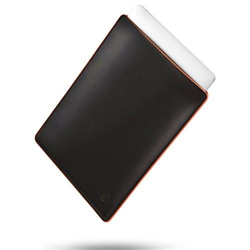 CAISON Echtes Leder Laptop Hülle Speziell für 2017/2018 13 Zoll MacBook Pro / 13,3 Zoll HP Envy x360 13/13,3 Zoll Lenovo Yoga 730 720