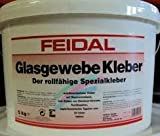 FEIDAL Glasgewebe Kleber / 10 kg / transparent / rollfähiger, weichmacherfreier Kleber auf Dispersionsbasis, lösemittelfrei, zum Kleben von Glasfaser-Gewebe, Textiltapeten, papierkaschierten Tapeten, usw., für innen , starke Klebkraft
