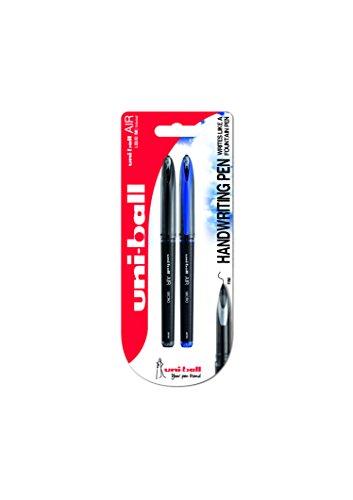 Uni-ball - Penna a sfera'Blister' Air Micro, confezione da 2, colore: Nero/Blu