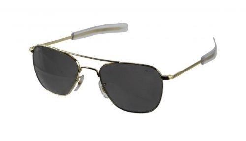 American Optical American optische Original Pilot Bajonett Gold 52CCP Pol. Grey Sunglasses 30004by